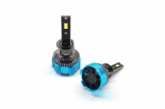 Three color H1 LED car headlight bulb