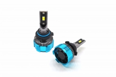 Three color 9006 LED car headlight bulb