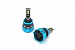 Three color H11 LED car headlight bulb