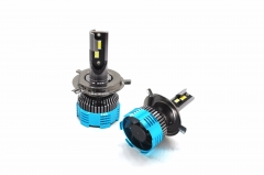 Three color H4 LED car headlight bulb