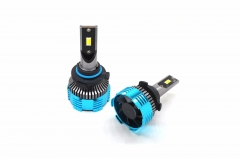 Three color 9005 LED car headlight bulb