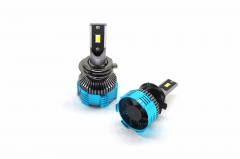 Three color H7 LED car headlight bulb